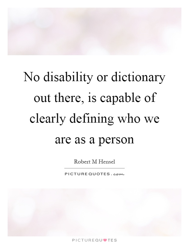 handicap definition essay By laurie block, disability history museum staff  stereotypes are also by  definition unchanging when a stereotype has been exposed as inadequate or  false.