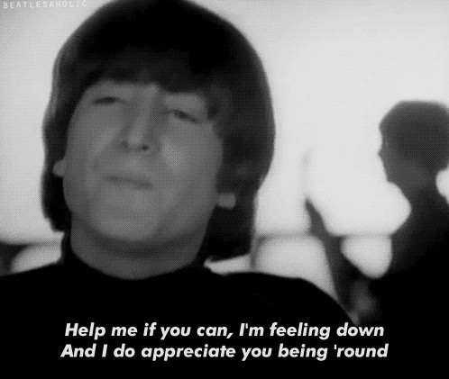 Help Beatles Quote 1 Picture Quote #1