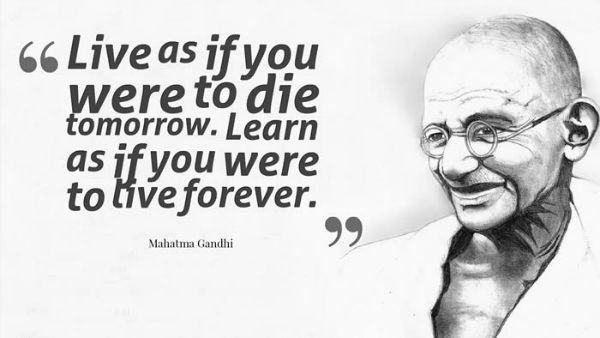 Most Famous Quote Mahatma Gandhi 1 Picture Quote #1