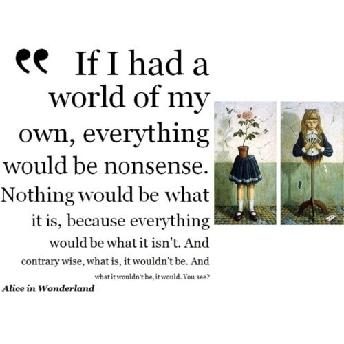 Quote About Nonsense Lewis Carroll 1 Picture Quote #1
