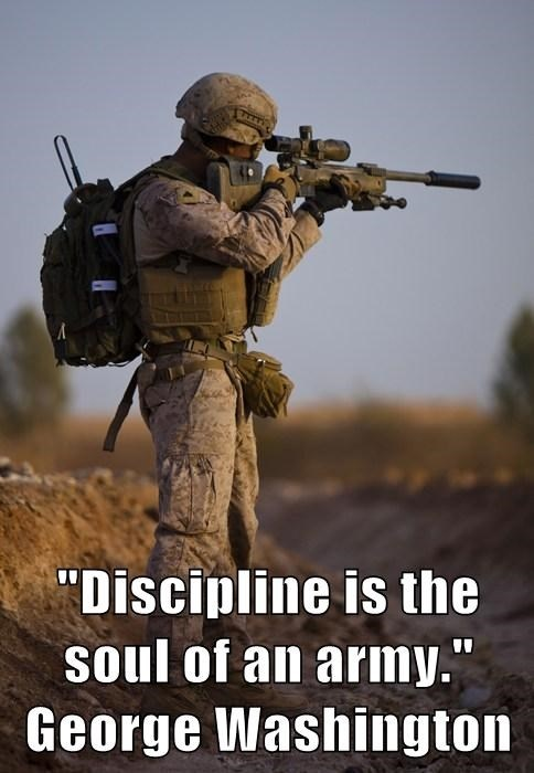 Military Discipline Quote 1 Picture Quote #1