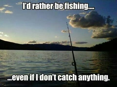 Id Rather Be Fishing Quote 1 Picture Quote #1