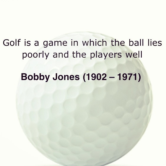 Bobby Jones Golf Quote 2 Picture Quote #1