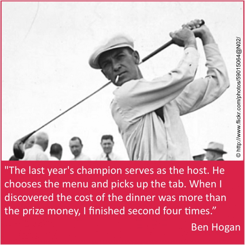 Masters Golf Quote 1 Picture Quote #1