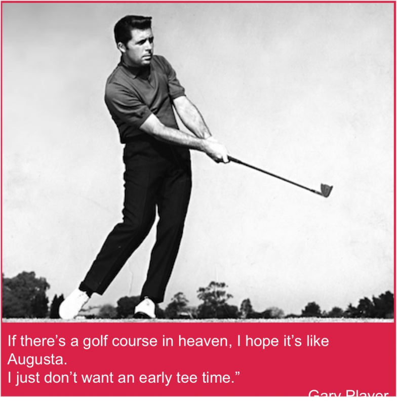 Masters Golf Quote 2 Picture Quote #1