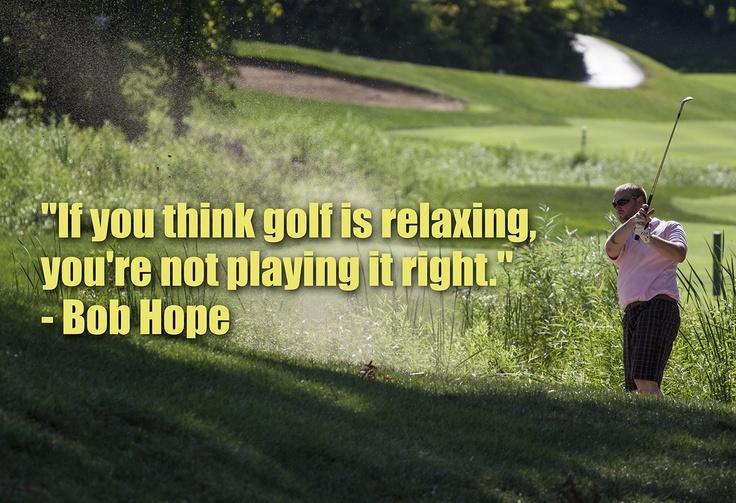 Bob Hope Golf Quote 1 Picture Quote #1