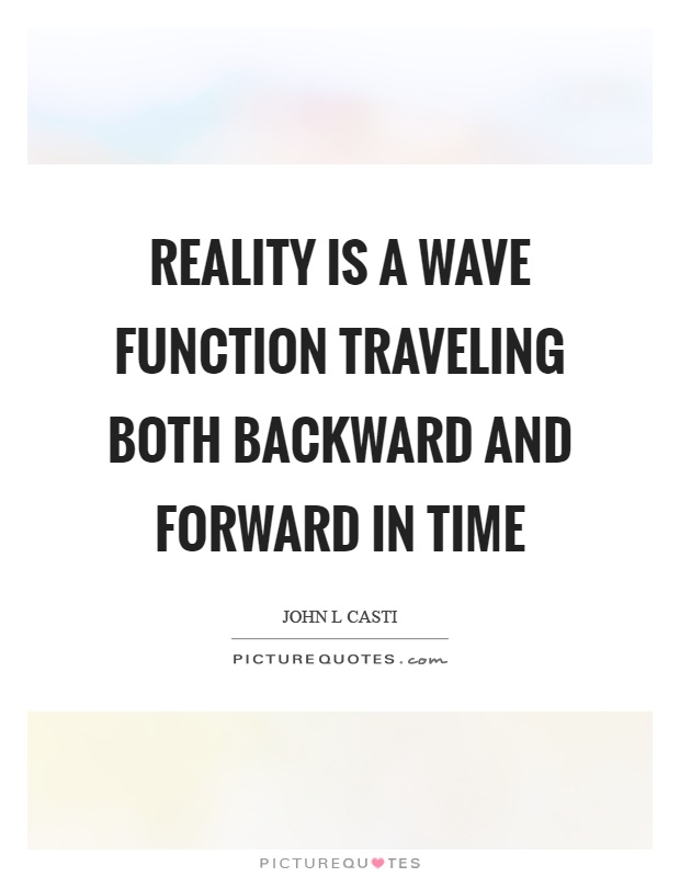 Reality is a wave function traveling both backward and forward in time Picture Quote #1