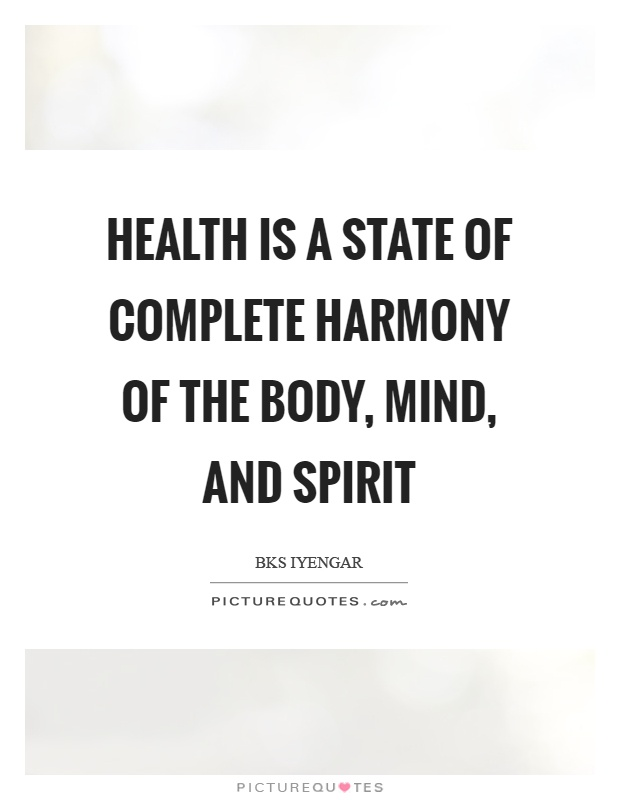 Health is a state of complete harmony of the body, mind, and spirit Picture Quote #1