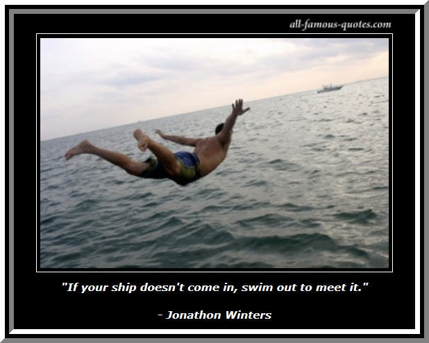 Famous Swimming Quote 1 Picture Quote #1