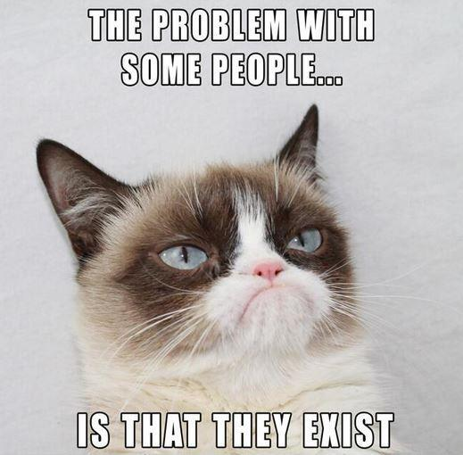 The problem with some people is that they exist Picture Quote #1