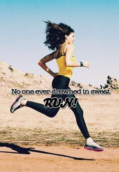 no one ever drowned in sweat Picture Quote #3