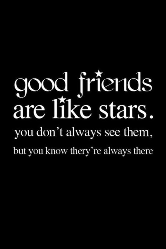 Good friends are like stars. You don't always see them, but you know they are always there Picture Quote #2