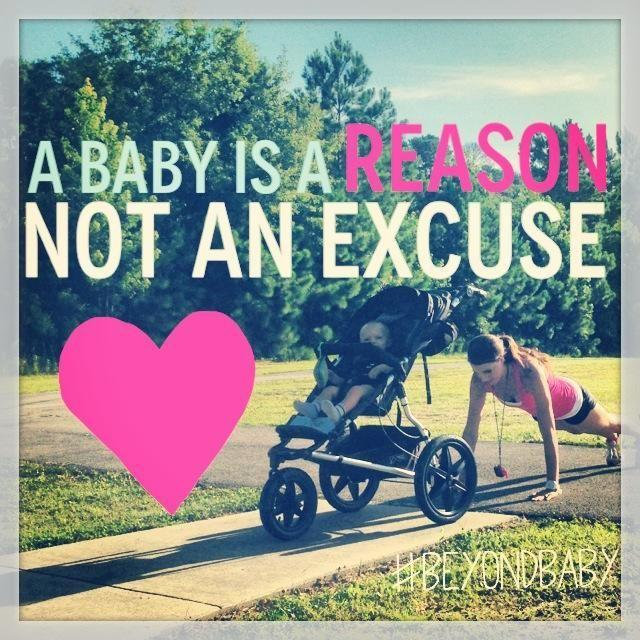 A baby is a reason not an excuse Picture Quote #1