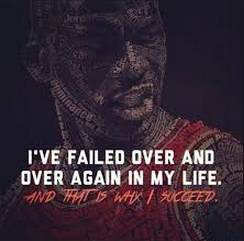 I've failed over and over and over again in my life and that is why I succeed Picture Quote #1