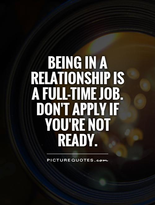 quote about not being ready for a relationship