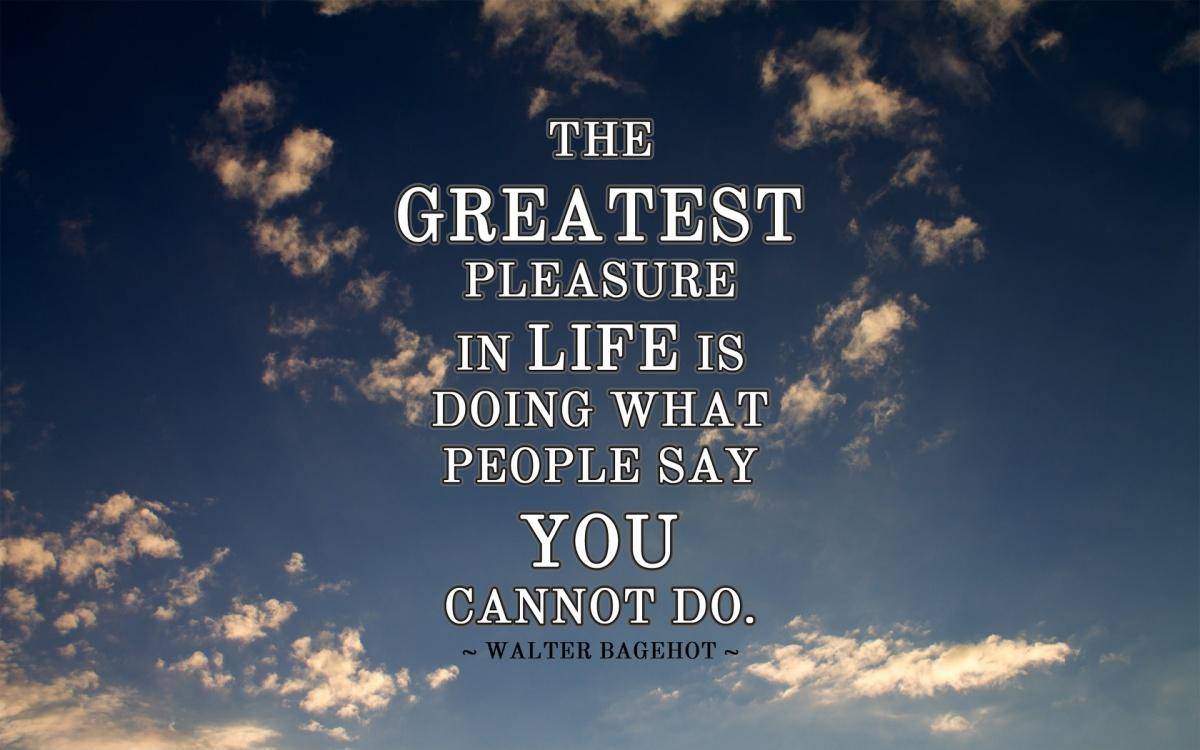 The greatest pleasure in life is doing what people say you cannot do Picture Quote #2