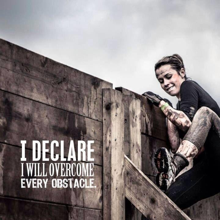 I declare I will overcome any obstacle Picture Quote #1