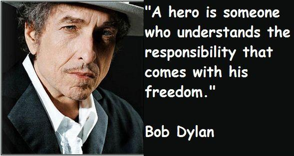 A hero is someone who understands the responsibility that comes with his freedom Picture Quote #2