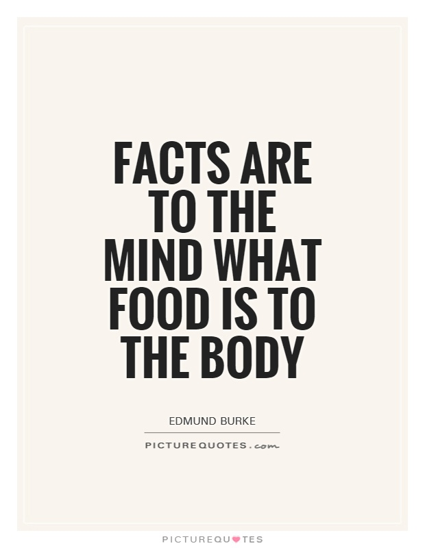 Facts are to the mind what food is to the body Picture Quote #1