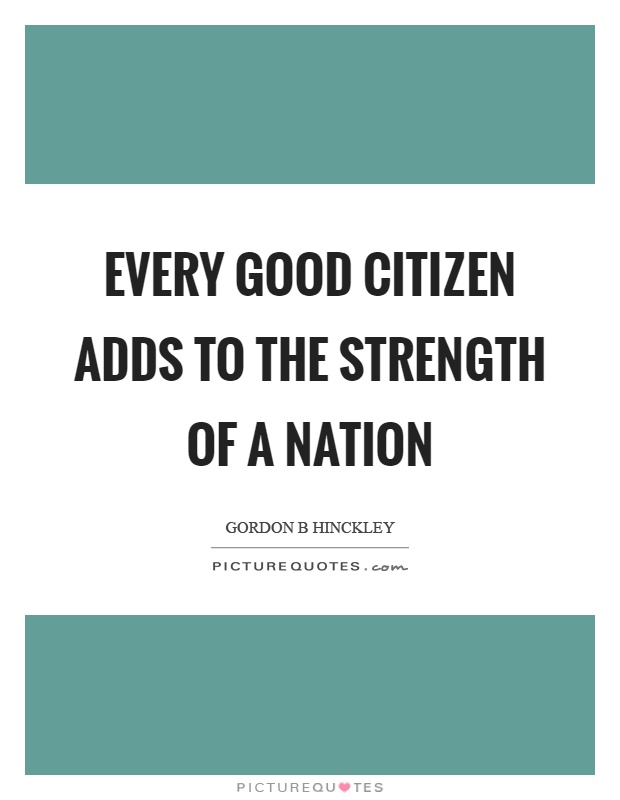 the strength of our nation essay Importance and benefits of sports due to this fact that sports keep our body also i saw a bunch of good sports essays that you can use or anyone else if.
