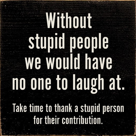 Laughing At Stupid People Quote 1 Picture Quote #1