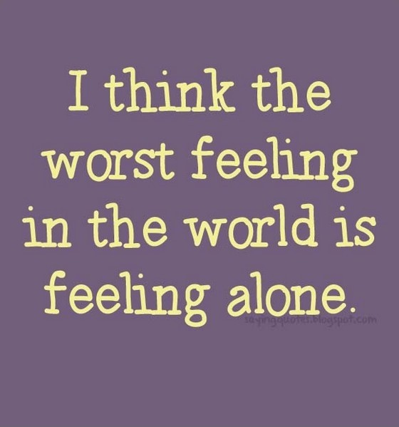 Feeling Alone Quote 2 Picture Quote #1