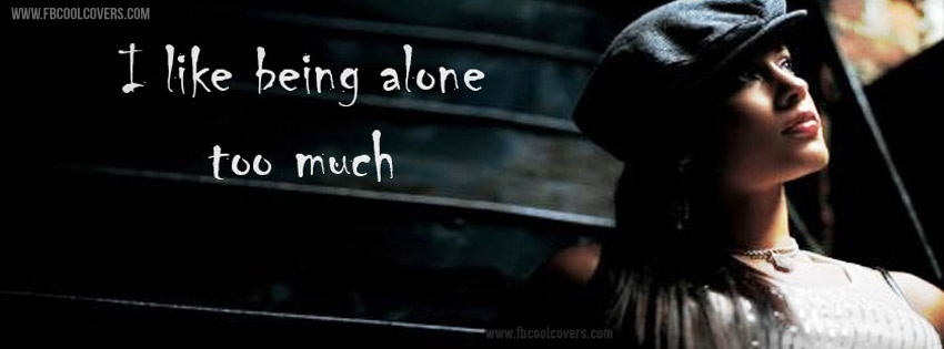 I Like Being Alone Quote 1 Picture Quote #1