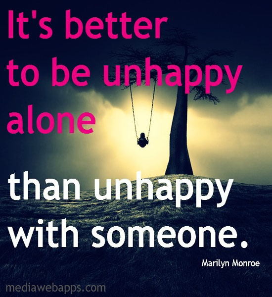 Being Alone Quote 11 Picture Quote #1