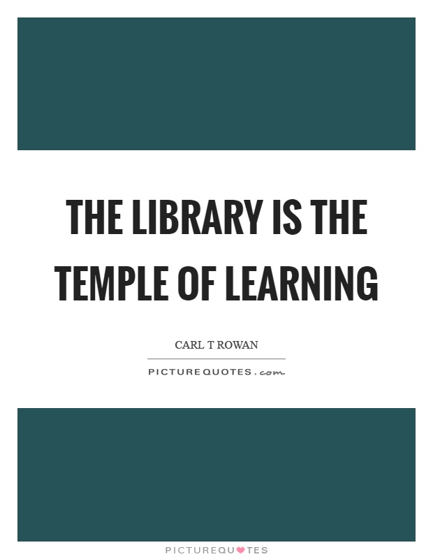 The library is the temple of learning Picture Quote #1