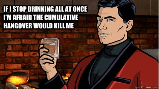 Archer Alcohol Quote 1 Picture Quote #1