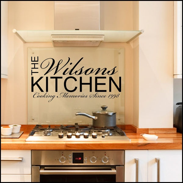 Wall decals quote kitchen quote number 601614 picture for Kitchen quote decals