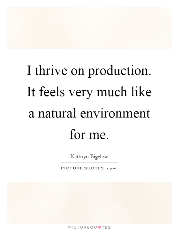 I thrive on production. It feels very much like a natural environment for me Picture Quote #1