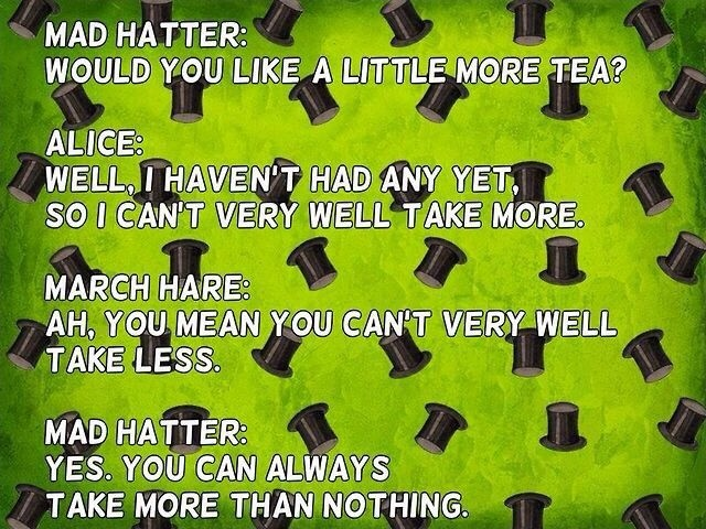 Mad Hatter Tea Quote 1 Picture Quote #1