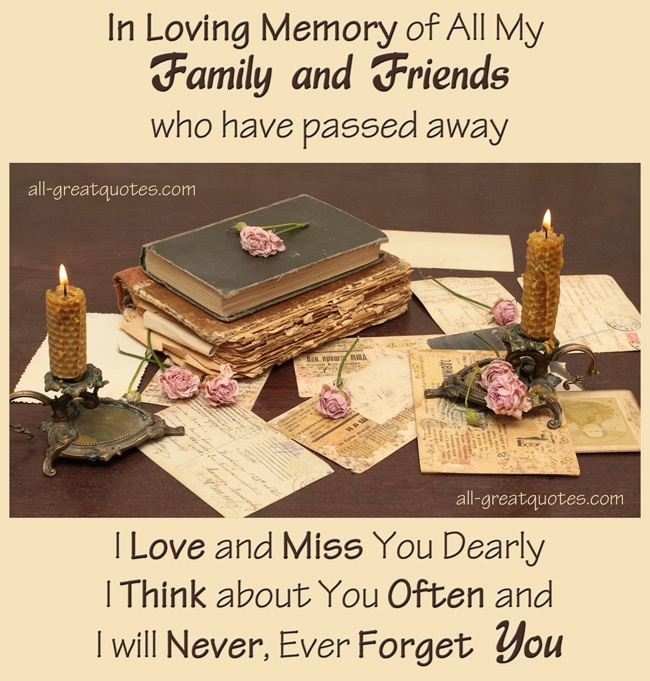 In Loving Memory Of A Friend Quote 1 Picture Quote #1