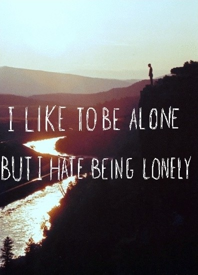 I Hate Feeling Lonely Quote 2 Picture Quote #1
