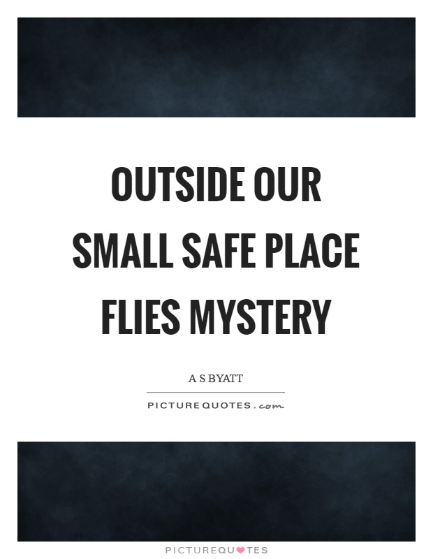Outside our small safe place flies mystery Picture Quote #1