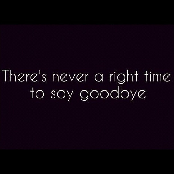 Quote About Saying Goodbye 1 Picture Quote #1