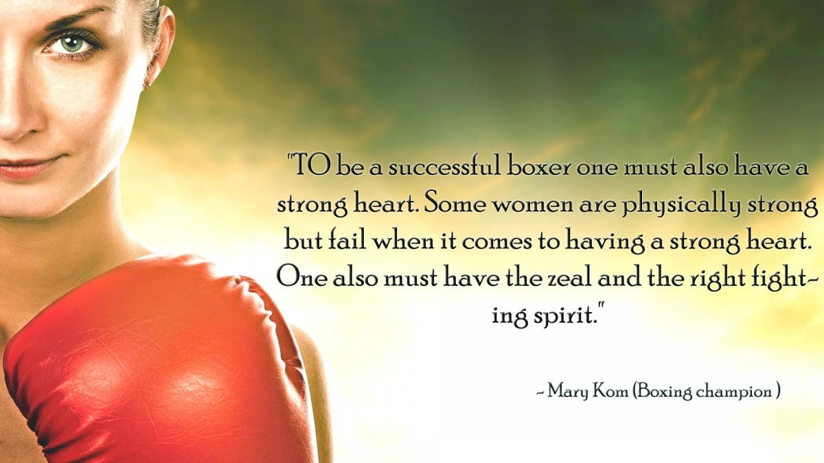 Female Boxing Quote 1 Picture Quote #1