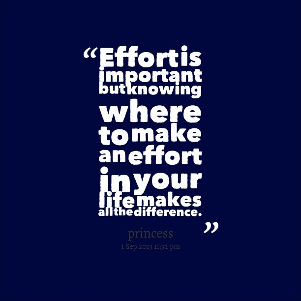 Effort Quote 1 Picture Quote #1