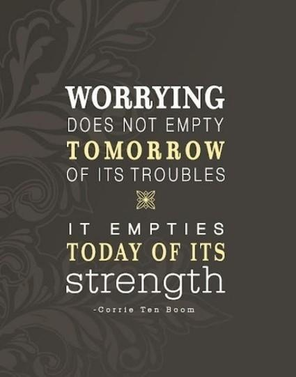 Worry Quote 5 Picture Quote #1
