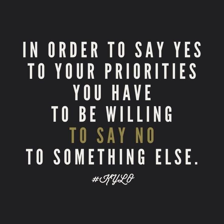 Priorities Quote 1 Picture Quote #1