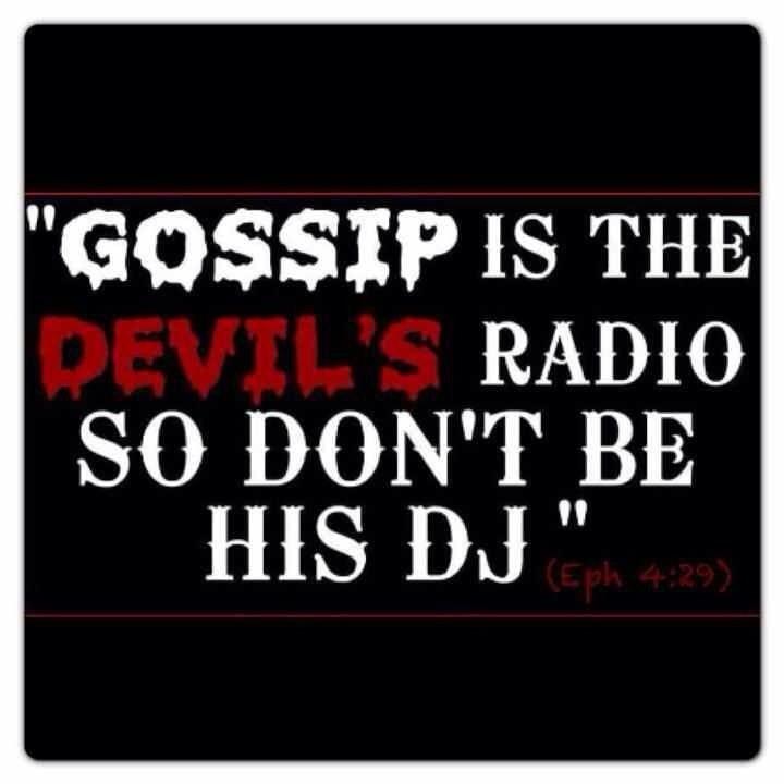 No Gossip Quote 1 Picture Quote #1