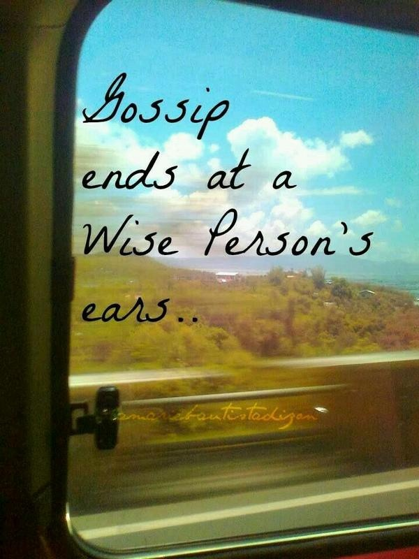 Ignore Gossip Quote 1 Picture Quote #1