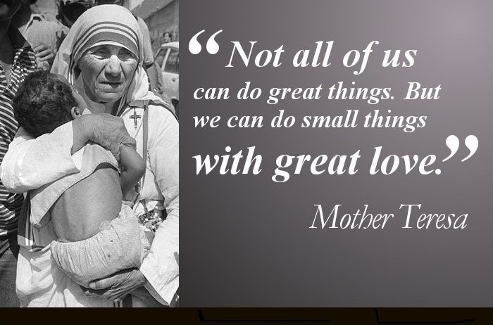 Great Love Mother Teresa Quote 1 Picture Quote #1