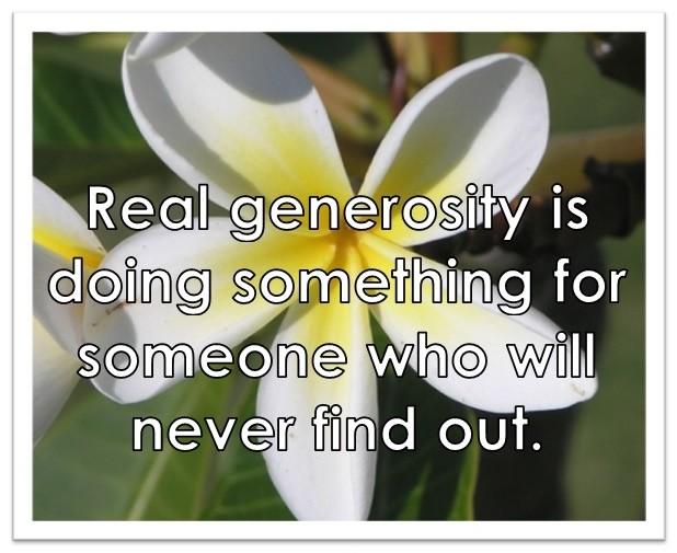 Generosity Quote 3 Picture Quote #1