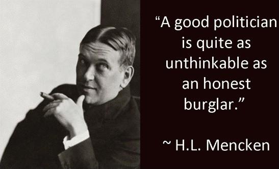 H L Mencken Political Quote 1 Picture Quote #1