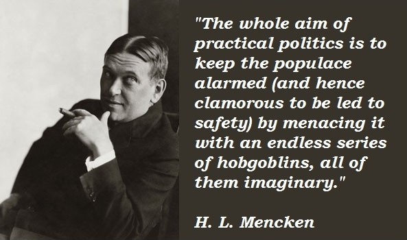 H L Mencken Political Quote 2 Picture Quote #1