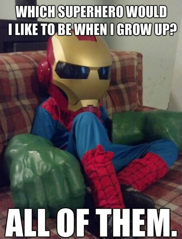 Funny Superhero Quote Quote Number 606782 Picture Quotes