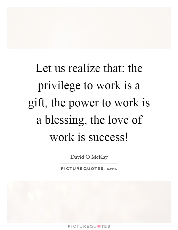 The Blessing of Work