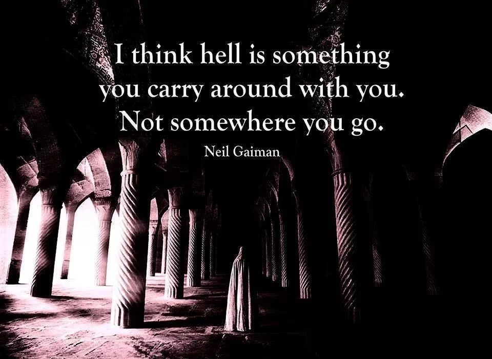 Thought Provoking Quote About Hell 1 Picture Quote #1